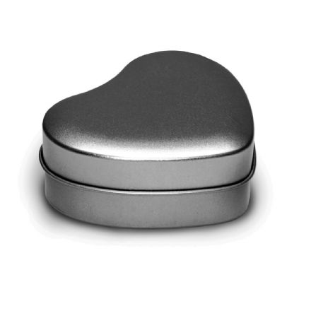 Candle Tins - Silver Hearts